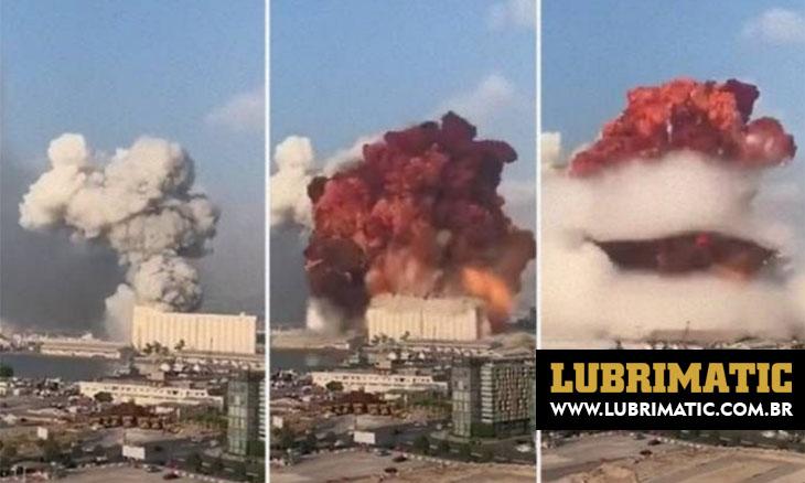 Explosão em Berlim (Líbano) foi causada por material também usado em demolições regulamentadas